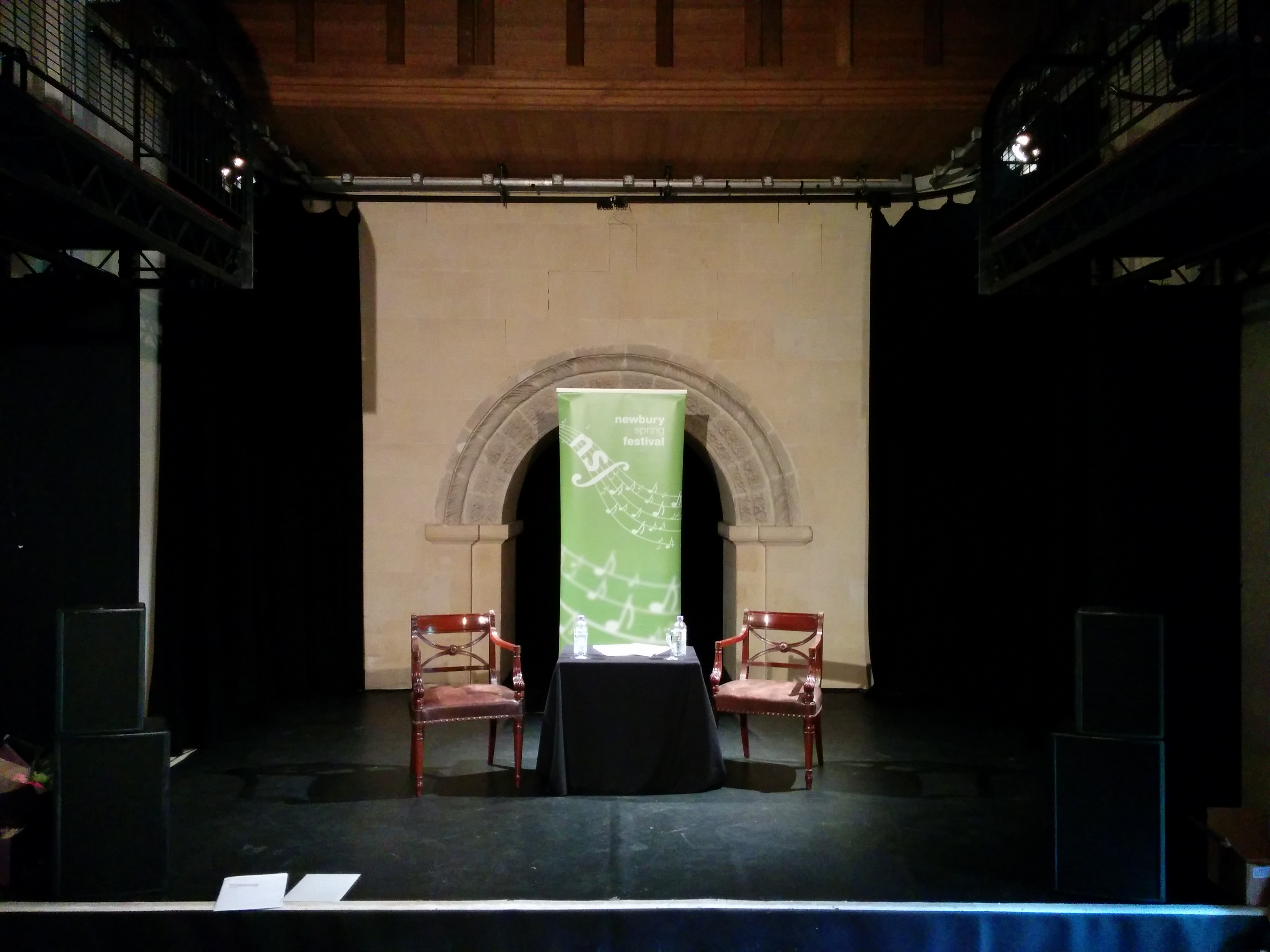 View of the stage setup for Maureen Lipman talks to Edward Seckeson