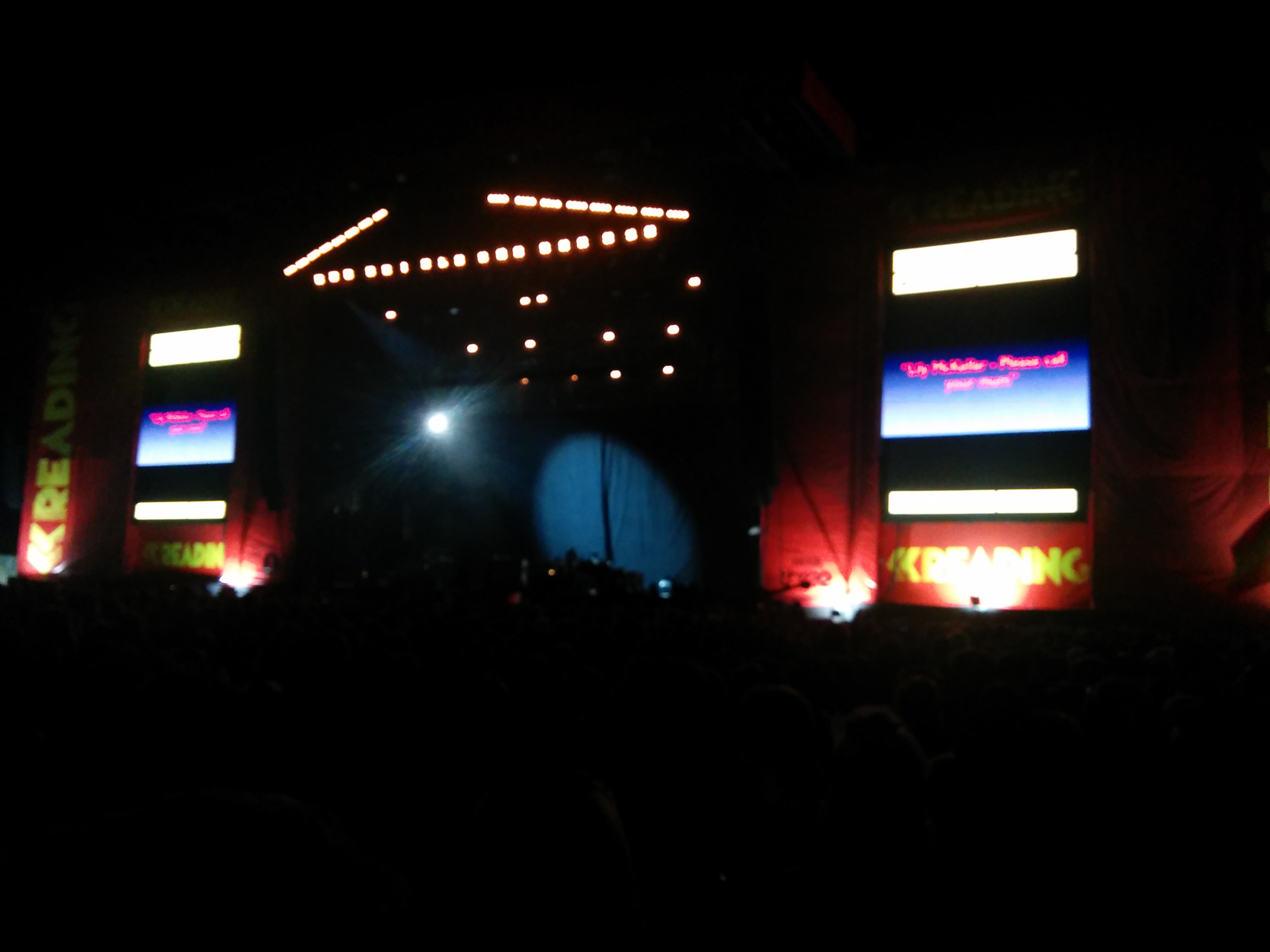 View of the main stage